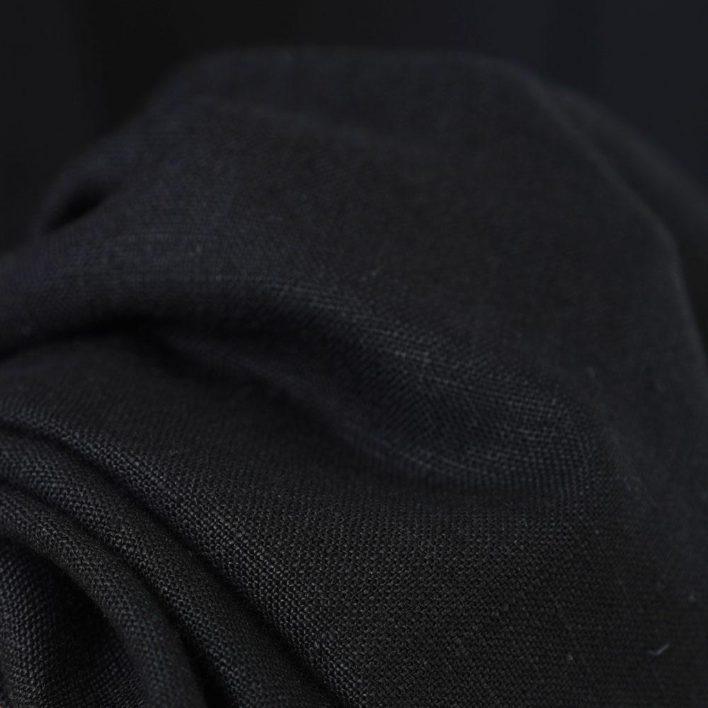 中厚 リネン ワンピース オフネック ボトルネック スリーブストラップ ドルマンスリーブ リネンドレス/ブラック【free】a011c-bck2