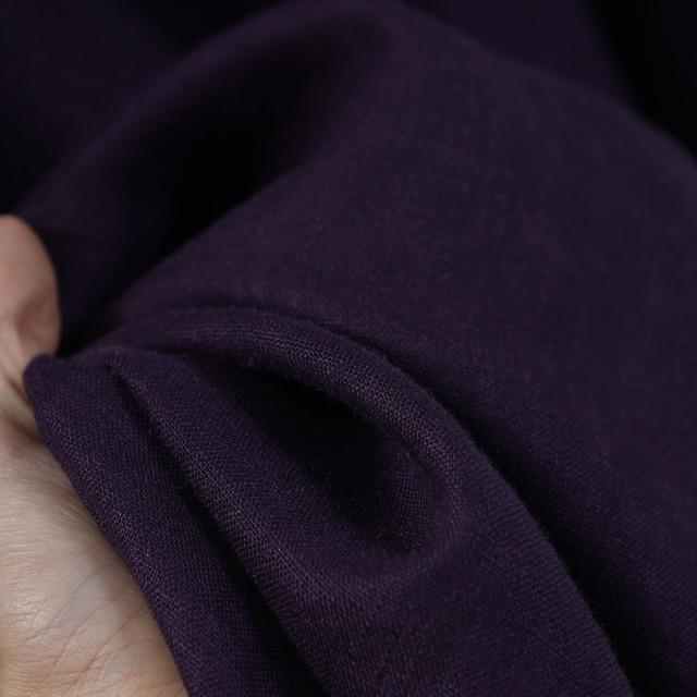 【wafu】中厚リネンパーカーワンピース フードの魔術師 パーカードレス /プラムパープル【free】a018c-ppe2