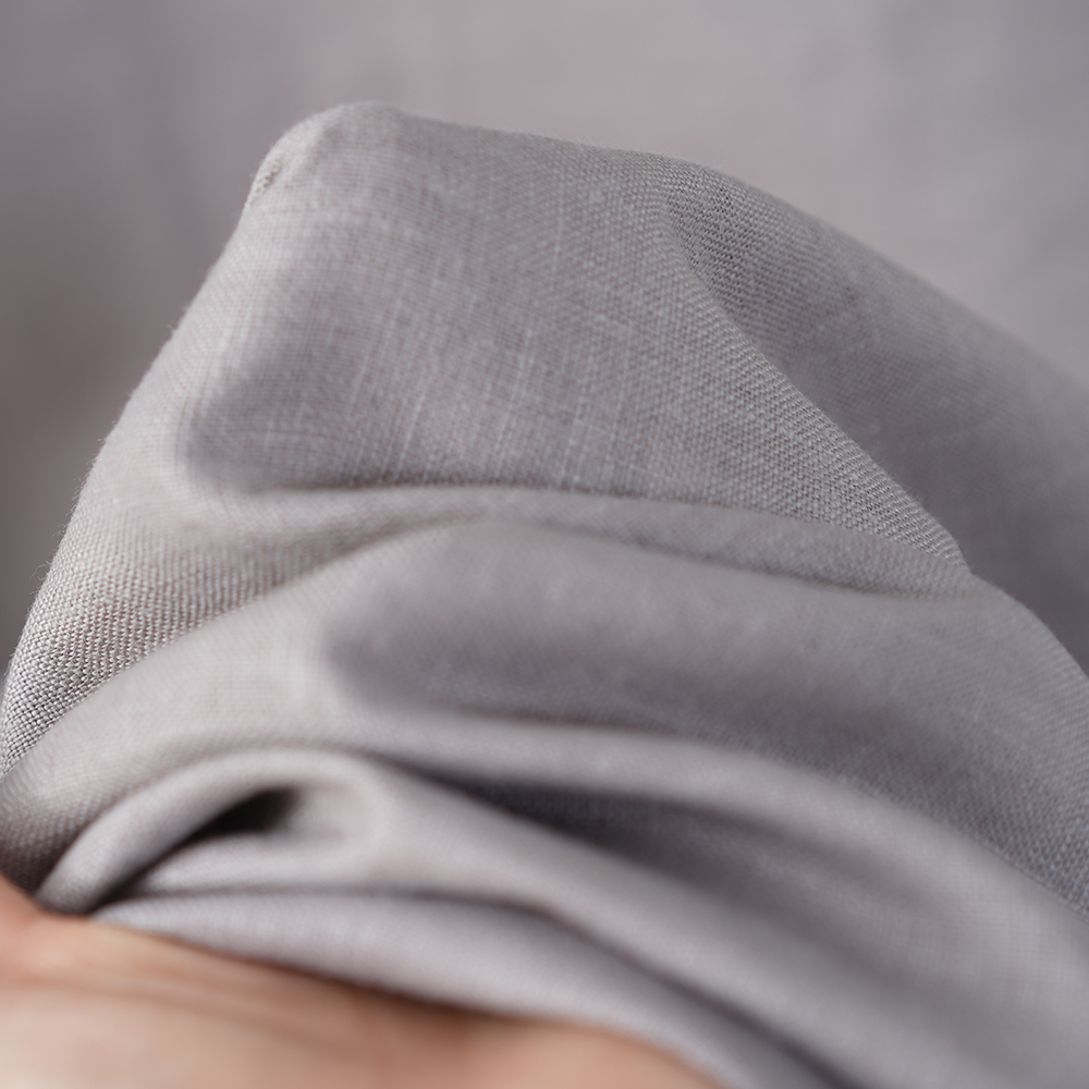 【wafu】中厚地 リネン ノースリーブワンピース リネンワンピース あきすぎない首周り 裾ヘム リネンドレス 後ろボタン /アッシュパール【M-L】a069c-asp2