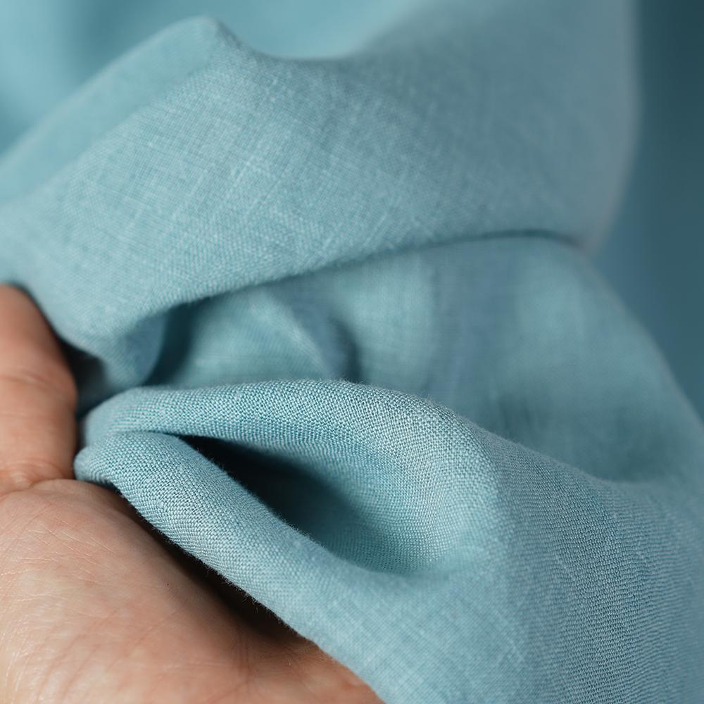 【wafu】薄地 雅亜麻 リネン パンツ リラックスパンツ ボトムス ウエストゴム ポケットあり/浅縹色(あさはなだ) b001a-ash1
