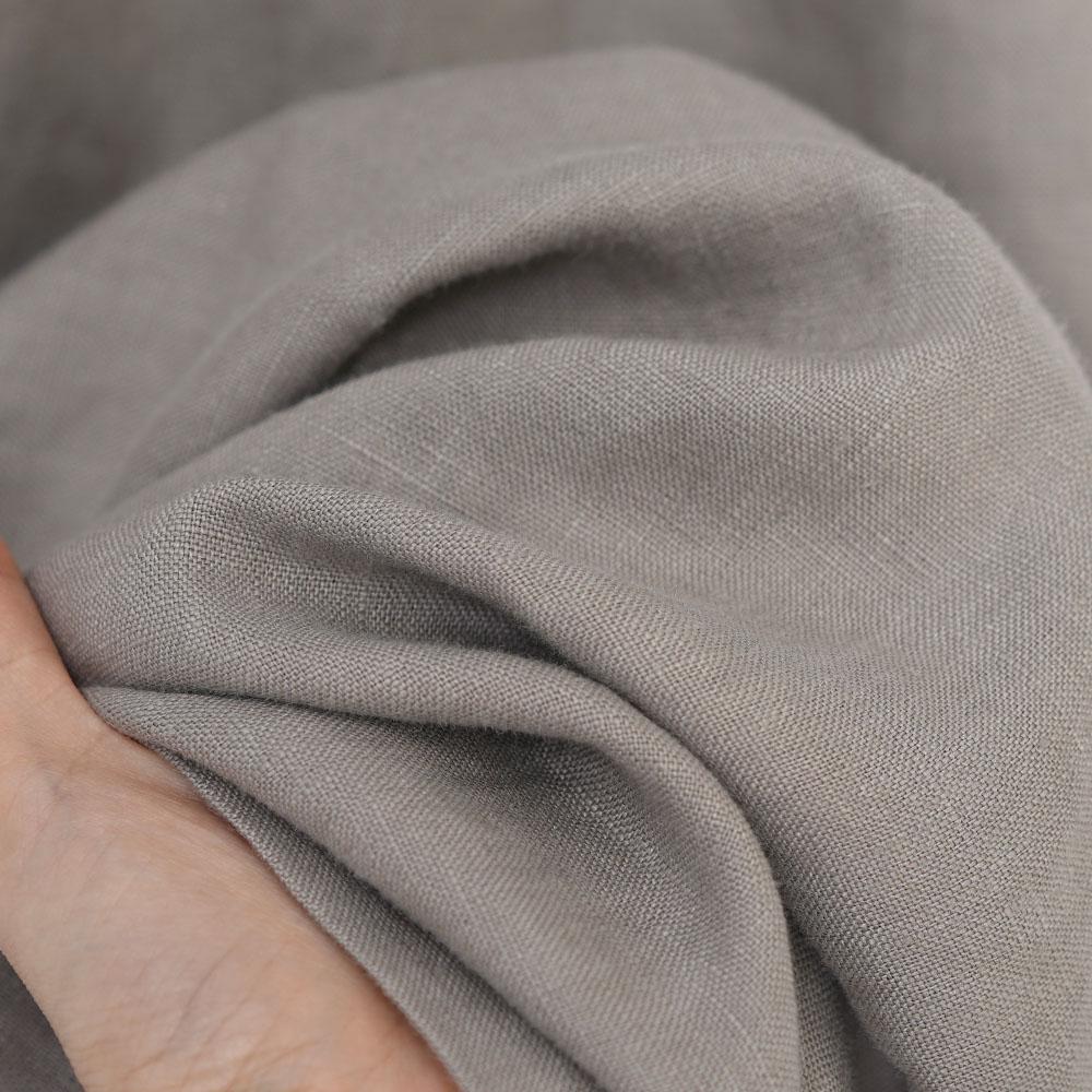 【wafu】中厚 リネンクロップド ワイドパンツ ベルトループ ポケット付/アッシュパール b002m-asp2