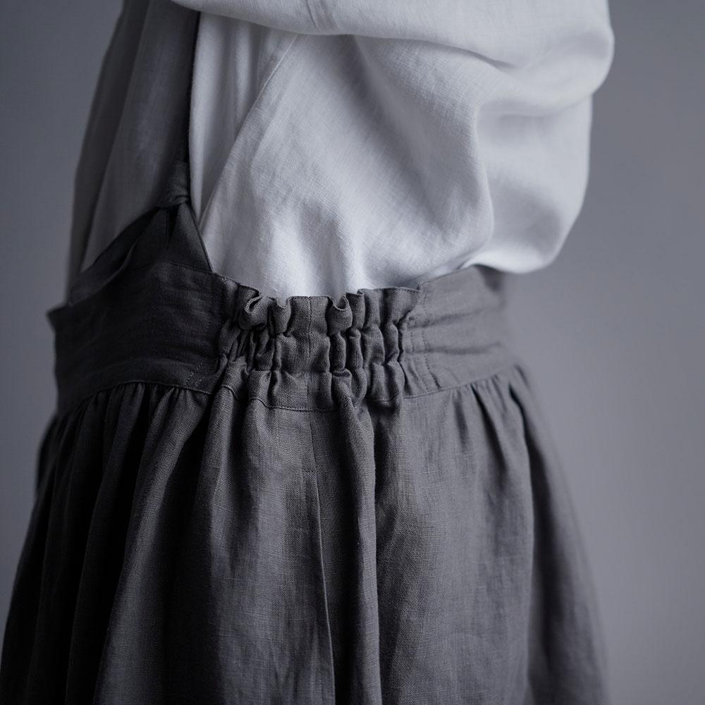 【wafu】Linen Pants サロペット アラジンパンツ /鈍色(にびいろ) b003d-nib1