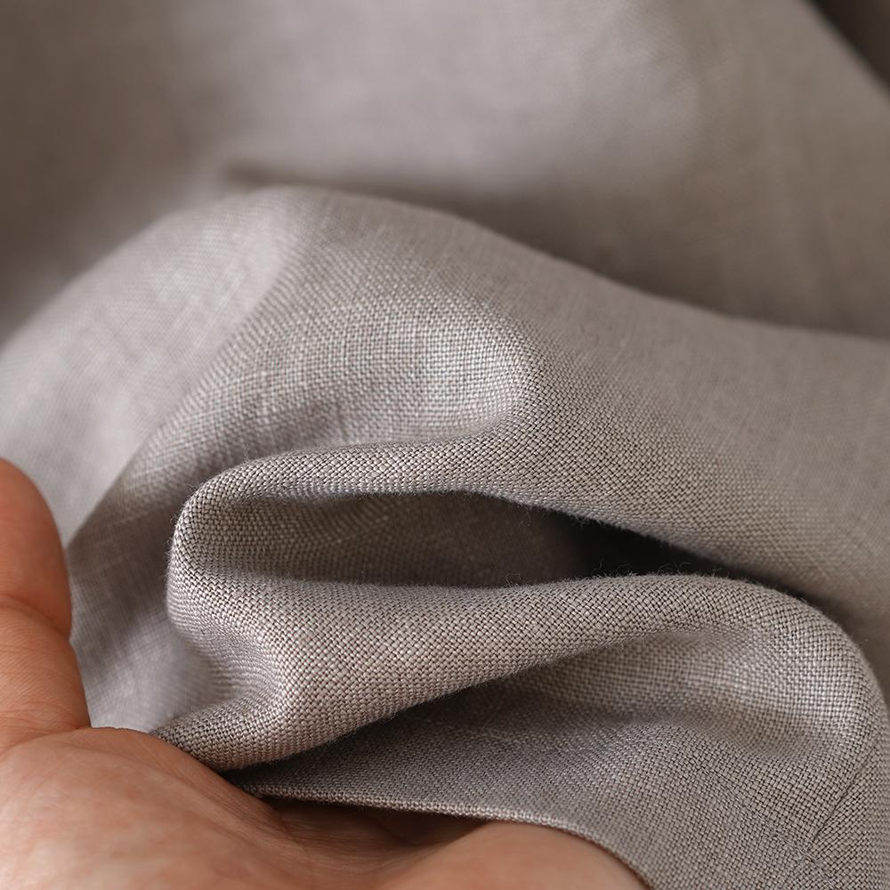 【wafu】リネン ショート パンツ 男女兼用 ハーフパンツ ポケット有り ウエストゴム ボトムス 膝丈 中厚/アッシュパール b012d-asp2