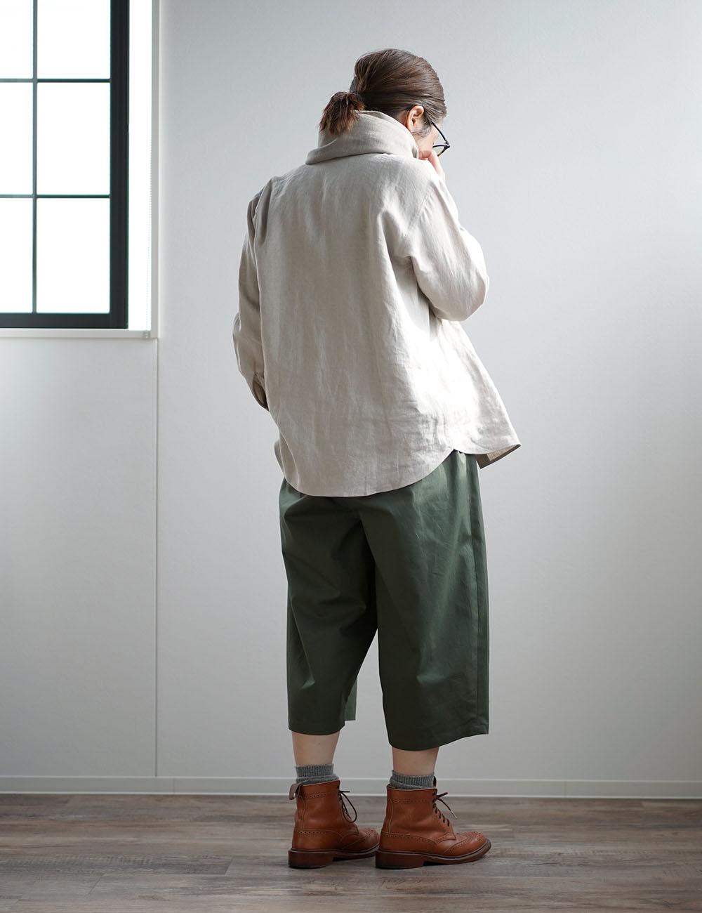 【見習い製作品!】ワイド クロップドパンツ 8分丈 男女兼用 ユニセックス #training/2色展開 b018f