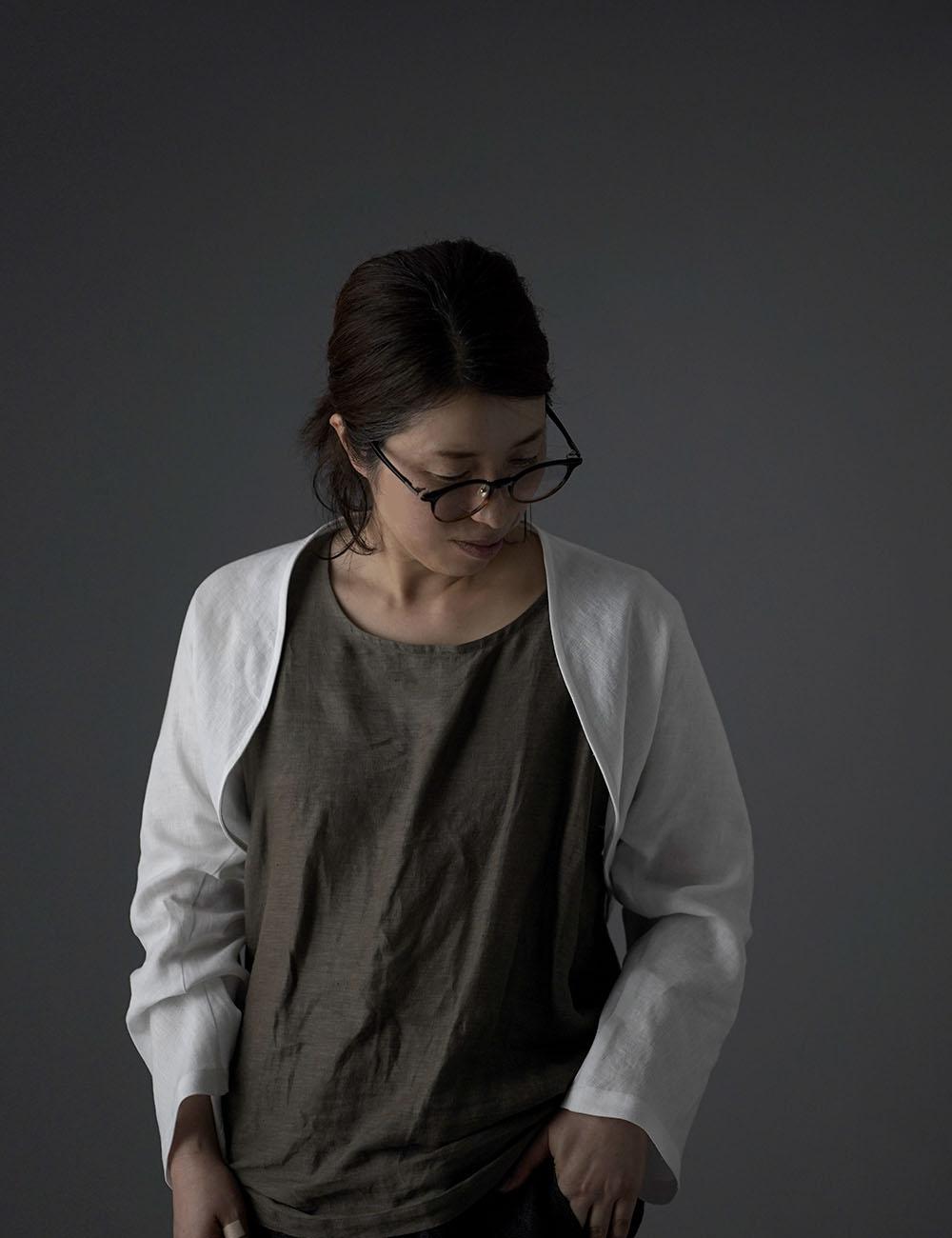 【wafu】 リネン ボレロ ベルスリーブ マーガレット アウター 羽織 長袖 短い丈 UV対策にも 中厚/ホワイト h006a-wht1