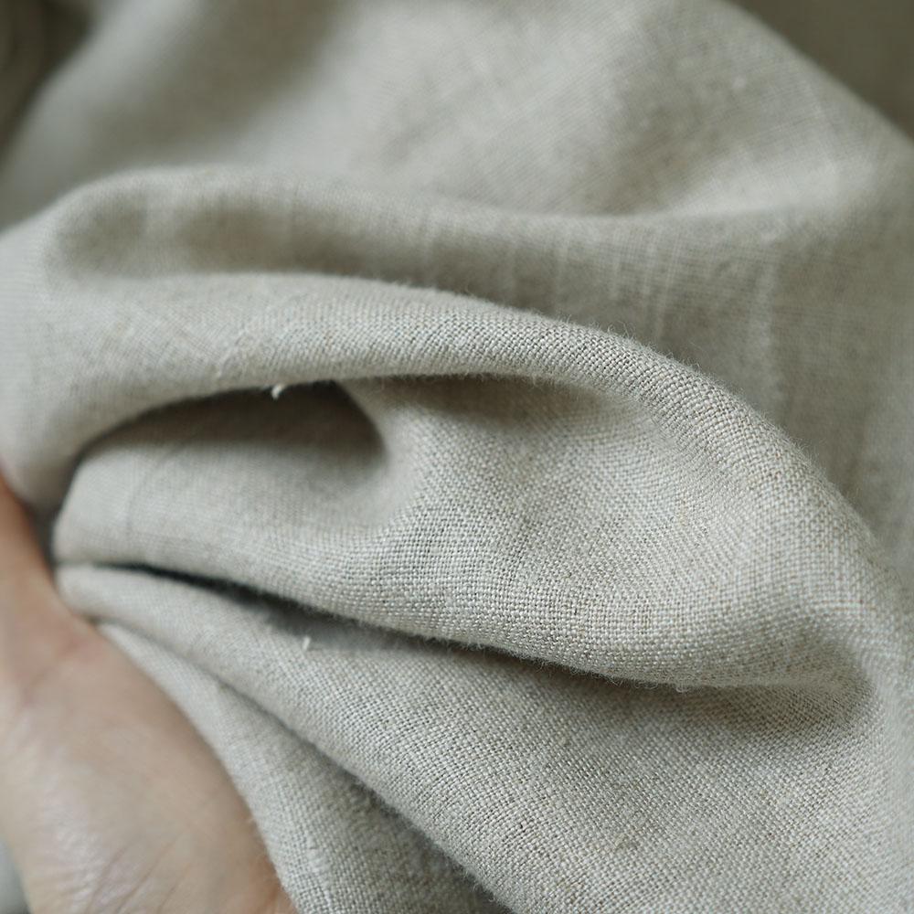 【wafu】 リネン ショールカラーコート 羽織 リネン100%アウター ロング丈 ヘチマ襟 長袖 ポケット付き 中厚  /亜麻ナチュラル h008a-amn2