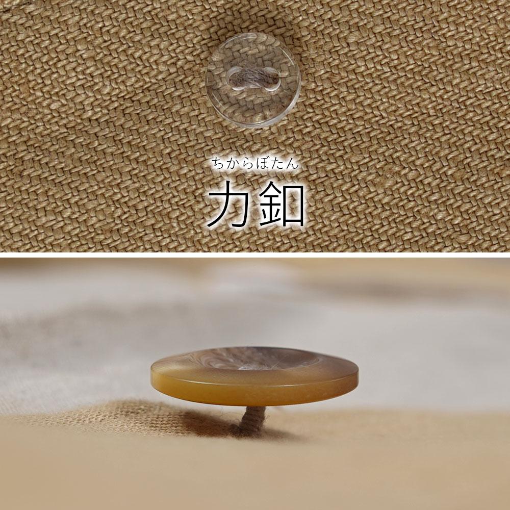 【wafu プレミアムリネン】中厚リネンコート プリーツコート wafu史上最高の上質リネン/シャンパン【M-L】h010b-cpn2