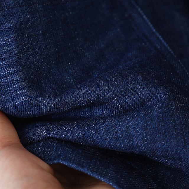 【wafu】リネンデニム ベスト 育てていくリネンデニム 色落ちします。 /インディゴ h012c-ind3-m