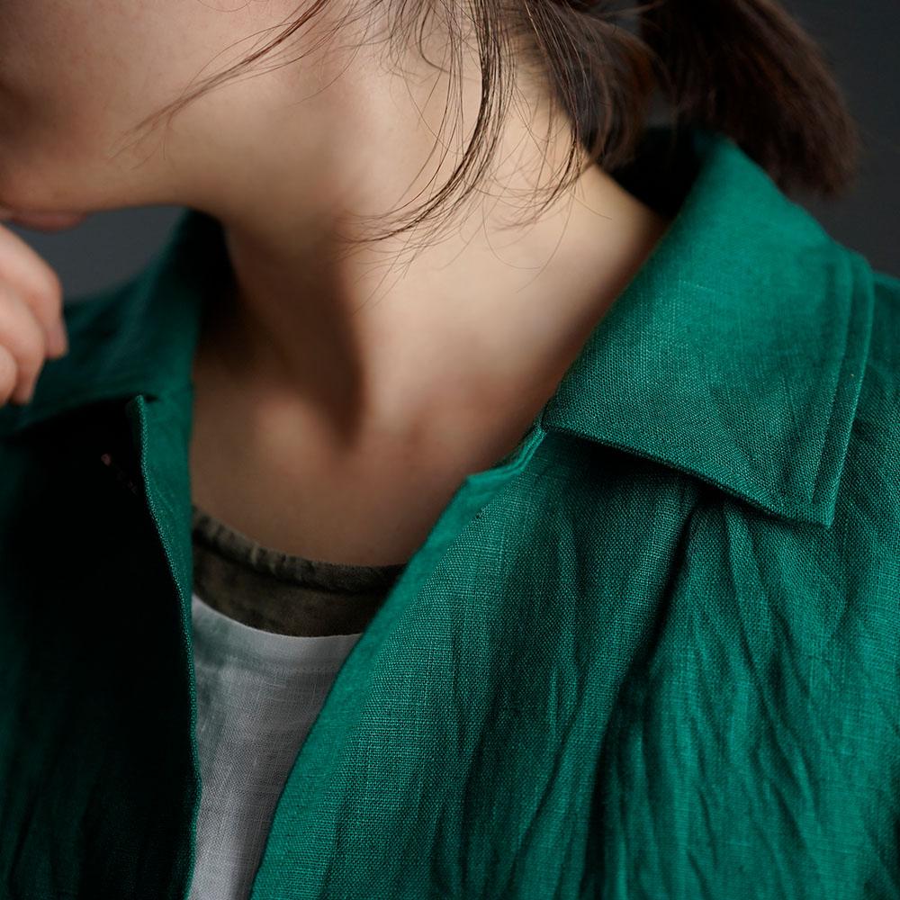 【wafu 入門編】Linen Jacket 数量限定!カバーオール 男女兼用 / ヴェールシプレ h031c-vsp2