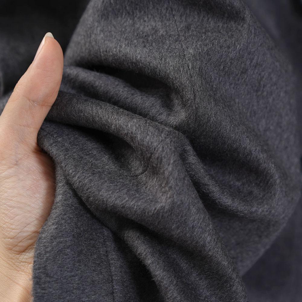 リネン100%裏地×なめらかウール100% シャツ専用ジャケット 総裏地 雅亜麻 コート ドロップショルダー カーディガン 羽織 長袖/グレー【free】h042b-gry3