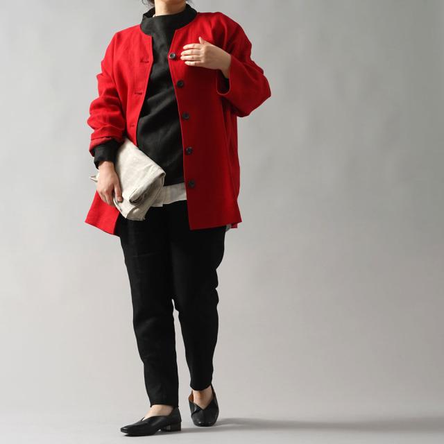 【wafu プレミアムリネン】シャツ専用ジャケット 総裏地 雅亜麻 コート ドロップショルダー カーディガン 羽織 長袖 wafu史上最高の上質リネン/クリストローゼ【free】h042c-ctr3
