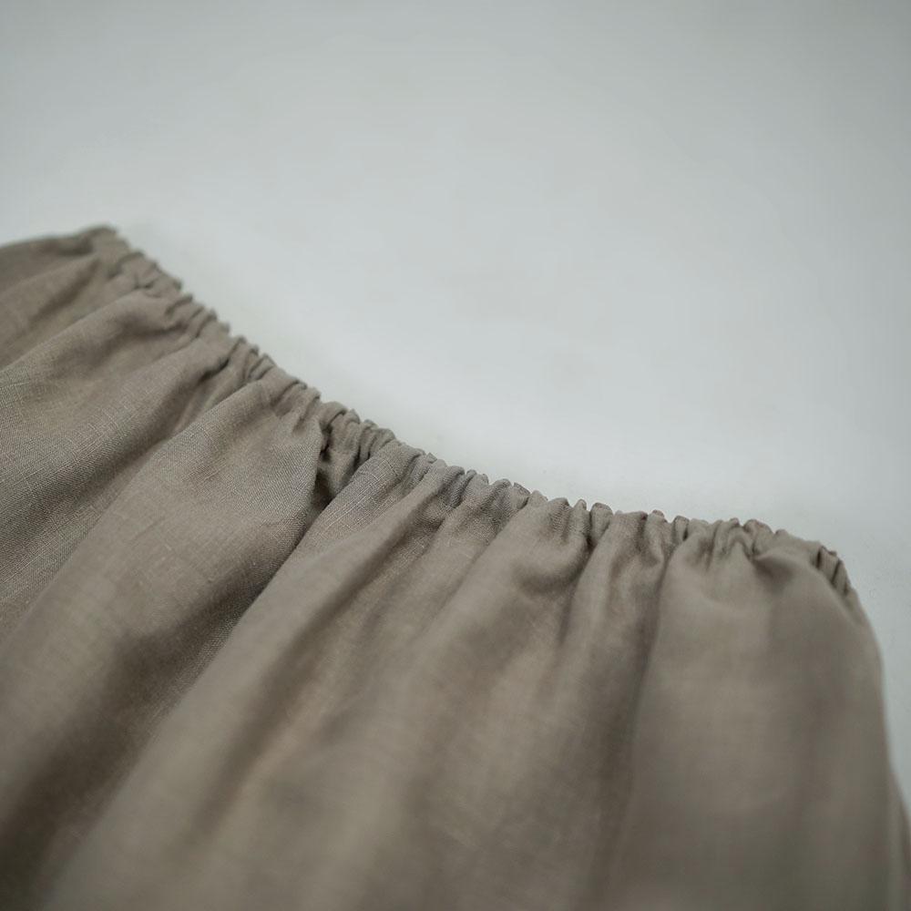 【wafu】雅亜麻 Linen  ロングペチスカート 膝丈 インナーにも / 3色展開 p002b