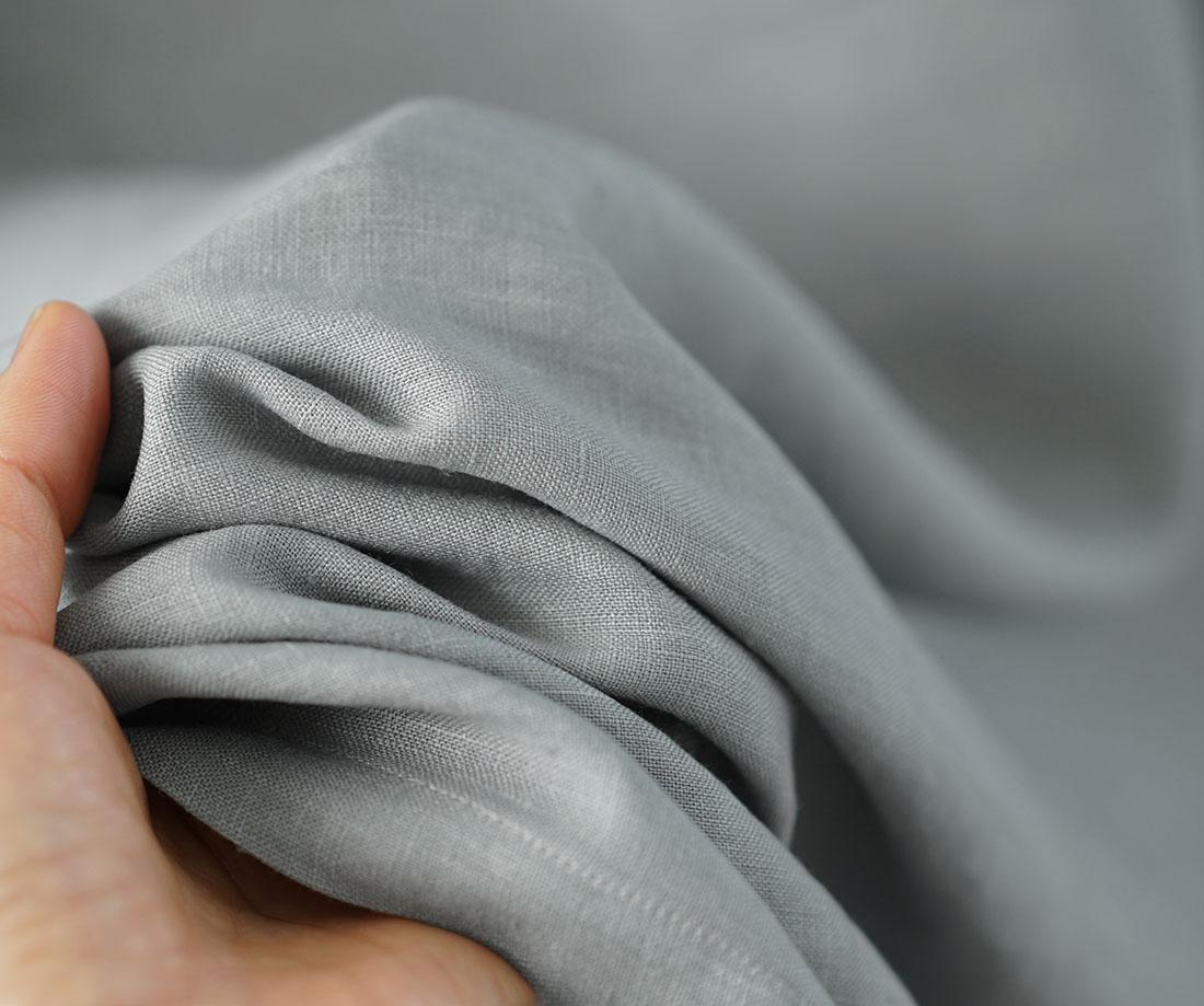 【wafu】薄地 雅亜麻 リネン フリル 襟 ワンピース やさしい インナー ドレス 肌着 下着 ペチワンピース / 銀鼠 ぎんねず【free】p009a-gnz1