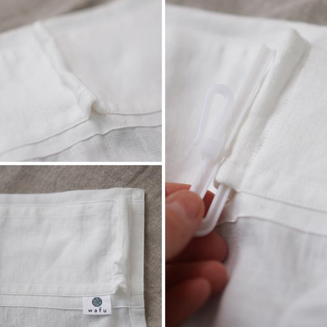 【wafu】やや薄リネンカーテンオーダーカーテン レースのような使い方ホワイト/r016a-wht1
