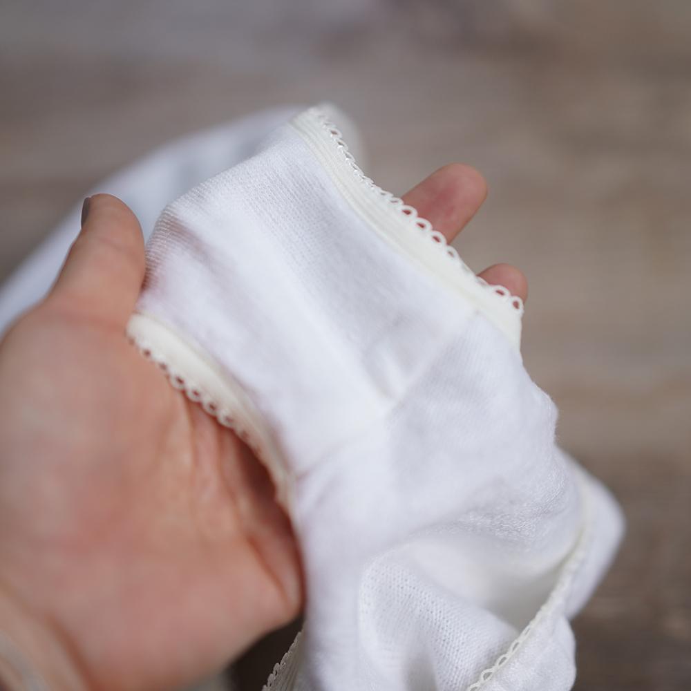【受注生産】唯一無二のリネン100% ショーツ 下着 肌着 縮むのでその分大きくしています。/白 r018a-wht3