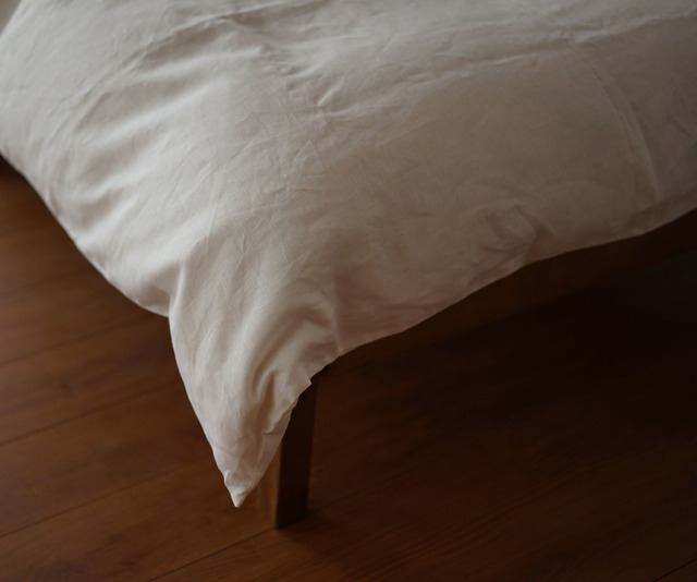 【wafu】特殊な リネン 掛ふとんカバー 寝具 ベットリネン マイナスイオン加工 防菌 防臭加工 / ホワイト【シングルサイズ】r003a-wht3