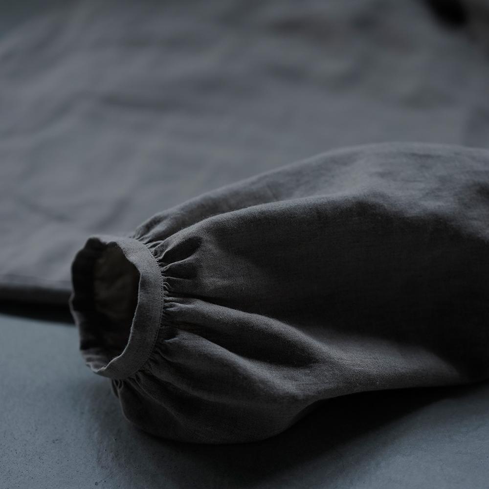【7月8日12時~受注販売開始!】Linen Puff Sleeve Blouse リネン ブラウス / 亜麻ナチュラル t006c-amn1