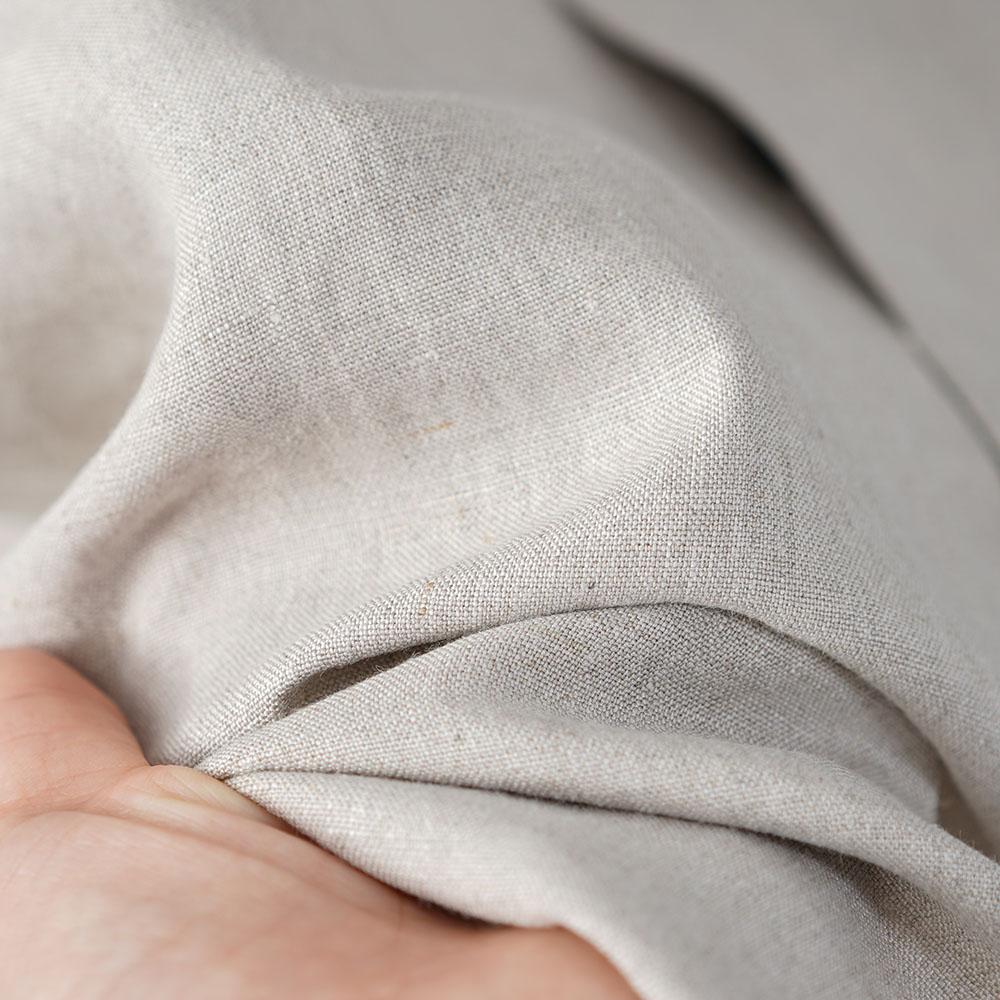 やや薄地 リネン ちび襟 ノースリーブ 比翼シャツ インナーとしても リネンタンクトップ リネン シャツ /亜麻ナチュラル【M-L】t018a-amn1