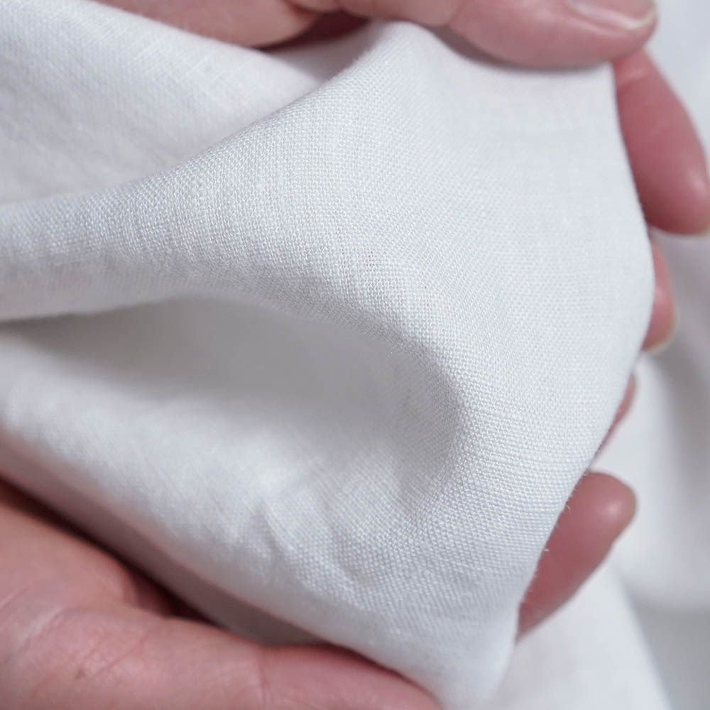 【5/20 21時~販売開始】【wafu】いつも着る リネン スタンドカラー シャツ 男女兼用 長袖 カフス袖 中厚地 /ホワイト t038g-wht2