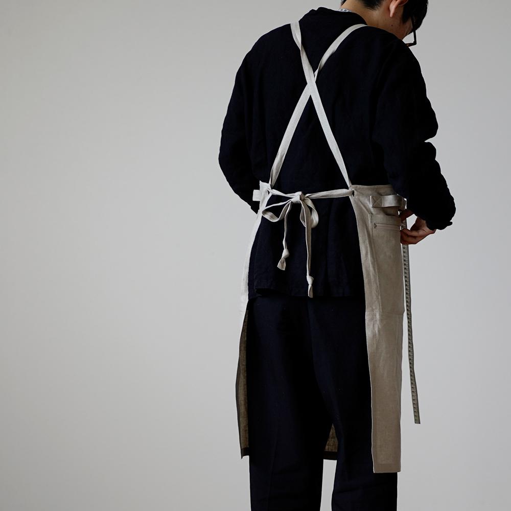 【wafu】リネン縫製屋の専用エプロン 道具がぴったりハマる気持ちよさ/亜麻ナチュラル z001i-amn2