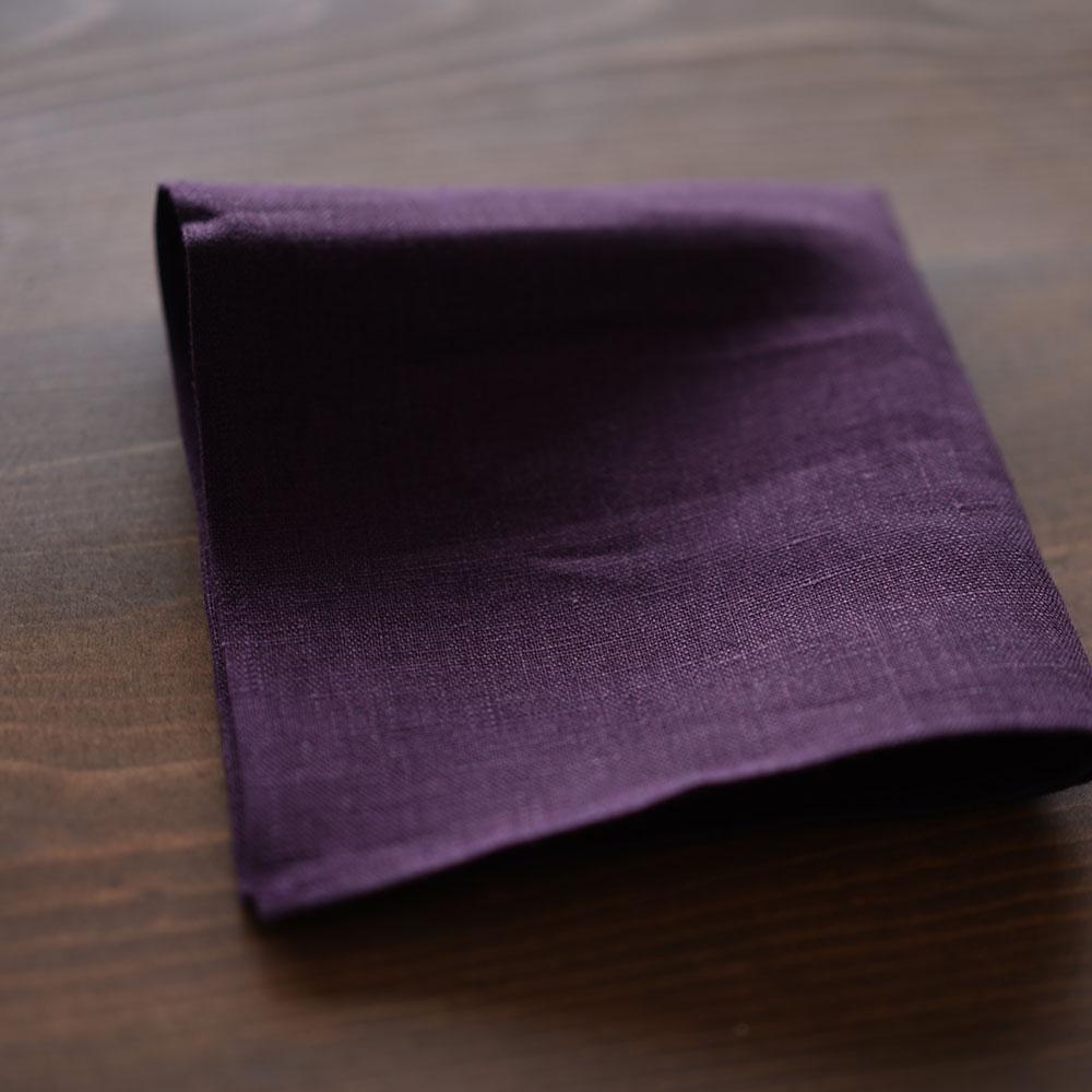 【見習い製作品】リネン ハンカチ  ふきんや 台ふきんに。 多目的用途に使えるリネン布【ネコポス可】 / 色とりどり サイズに多少前後あり【約30cm×30cm 】z002a