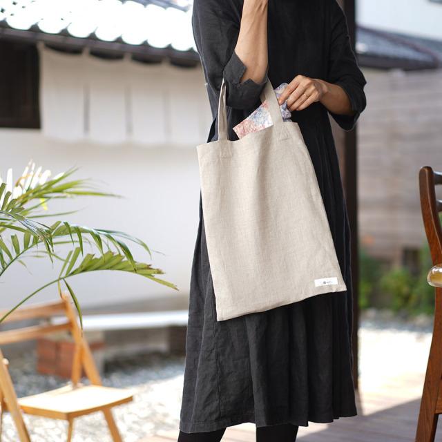 【wafu】中厚 リネン バッグ かばん 鞄 エコバッグ リネンバック リネンバッグ カバン 布カバン 買い物バッグ/6色展開【B4サイズ】z013b