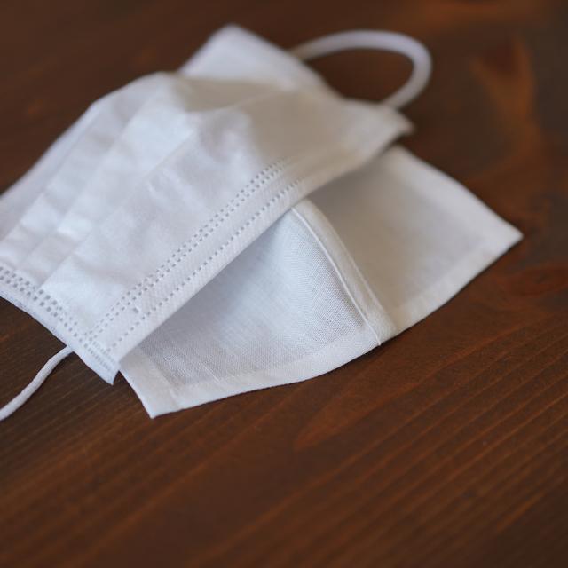 【wafu】リネン インナーマスク 抗菌 防臭 速乾 花粉症対策にも /ホワイト【約10?15cm】z021m