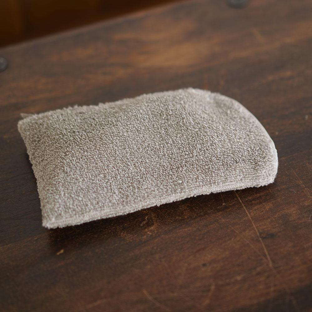 【wafu】依田考案 リネンパイル Lファスナー メガネ 歯ブラシ マスク ケースにも やわらか 抗菌 防臭/2色展開 z024c