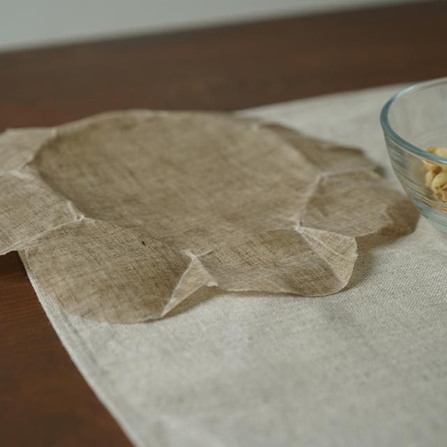 【wafu】リネンラップ エコラップ ミツロウラップ ラップ 食品用ラップ 蜜蝋 抗菌性/亜麻ナチュラル【22cm/中サイズ】z027b-amn1