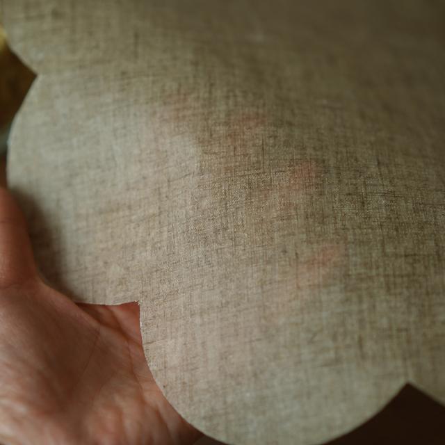 【wafu】 リネンラップ エコラップ ミツロウラップ ラップ 食品用ラップ 蜜蝋 抗菌性/亜麻ナチュラル【30cm/大サイズ】z027c-amn1
